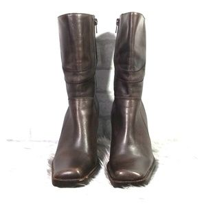 Steve Madden brown P-Press heeled boots size  7.5